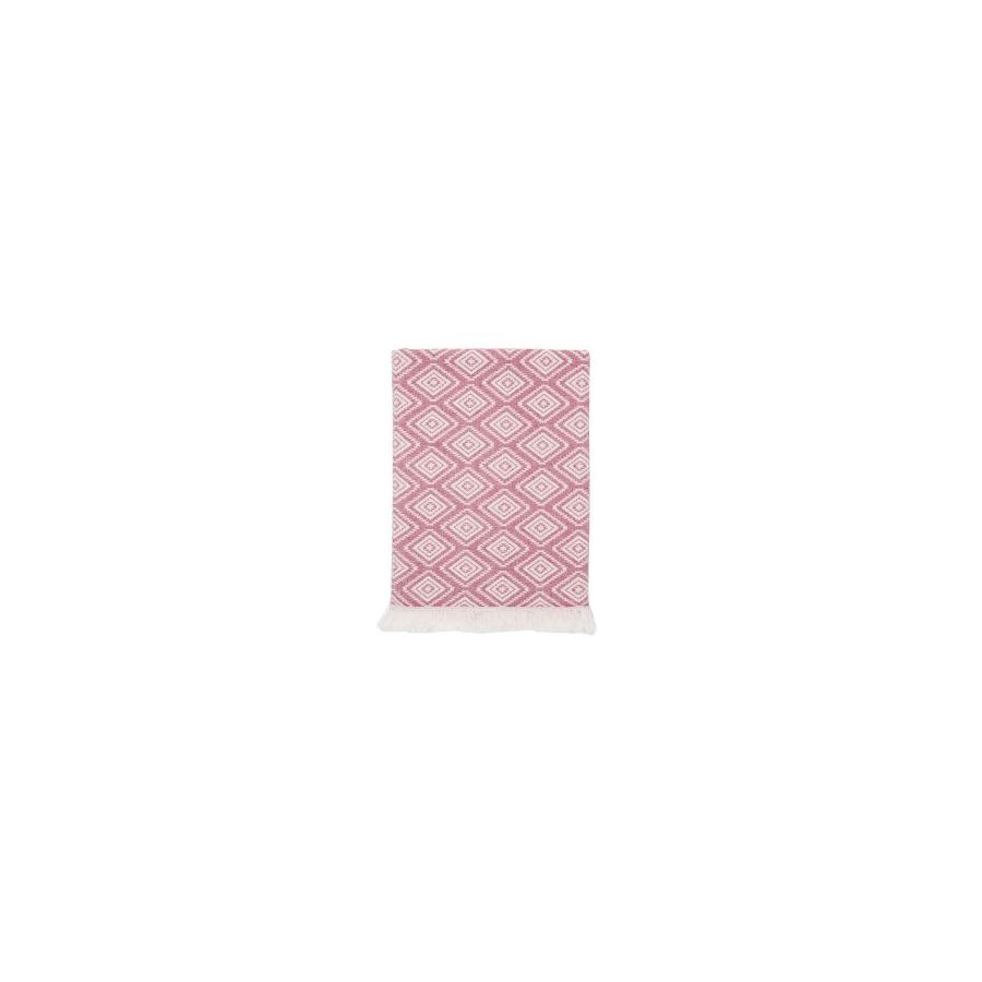 Плед микроплюш Barine - Diamond Throw burgundy 130*170