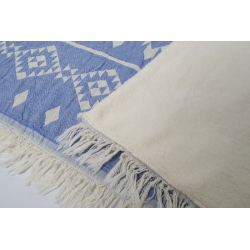 Плед микроплюш Barine - Kilim blue 130*170, , 3