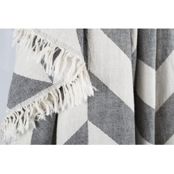 Плед-накидка Barine - Fishbone Throw Black 130*180, , 3