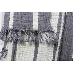 Плед-накидка Barine - Cocoon Stripe indigo 130*170, , 3