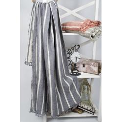 Плед-накидка Barine - Cocoon Stripe indigo 130*170, , 4