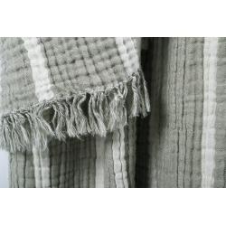 Плед-накидка Barine - Cocoon Stripe khaki 130*170, , 3