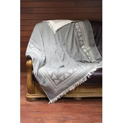 Плед-накидка Barine - Mono Throw grey серый  130*170, , 2