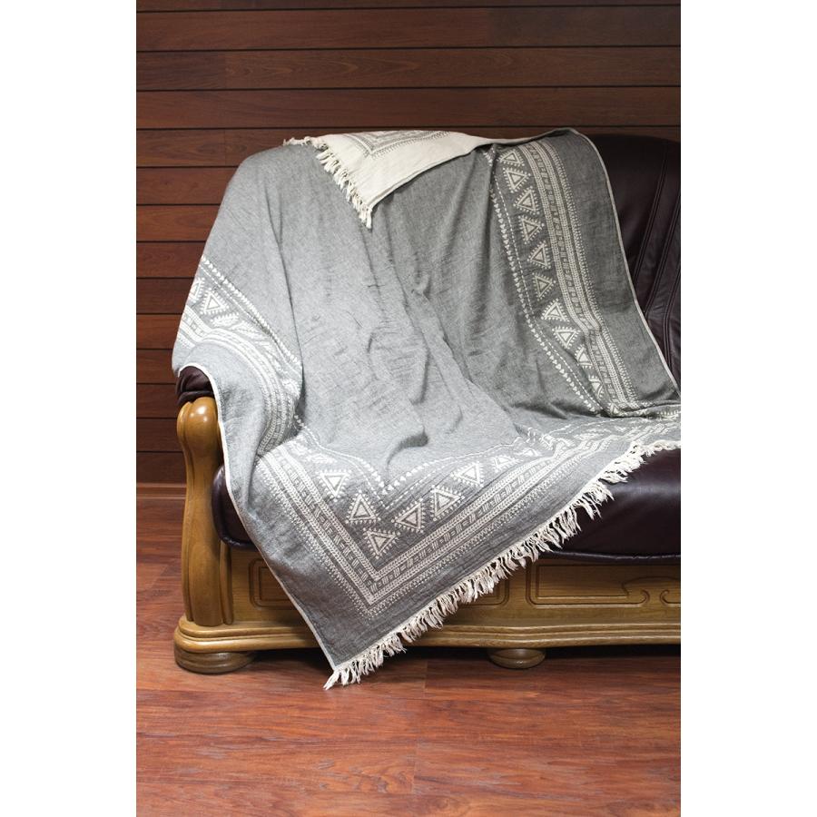 Плед-накидка Barine - Mono Throw grey серый  130*170