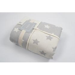 Плед микроплюш Barine - Star Patchwork throw grey серый 130*170, , 2