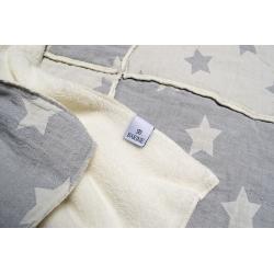 Плед микроплюш Barine - Star Patchwork throw grey серый 130*170, , 3