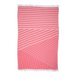 Полотенце Barine Pestemal - Cross 95*165 Pink розовое, , 2