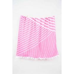 Полотенце Barine Pestemal - Cross 95*165 Pink розовое, , 4
