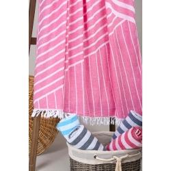 Полотенце Barine Pestemal - Cross 95*165 Pink розовое, , 5