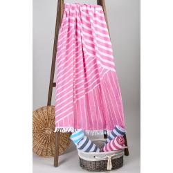 Полотенце Barine Pestemal - Cross 95*165 Pink розовое, , 6