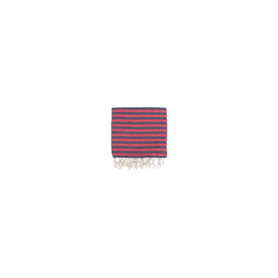 Полотенце Barine Pestemal - Herringbone 100*180 Navy-red