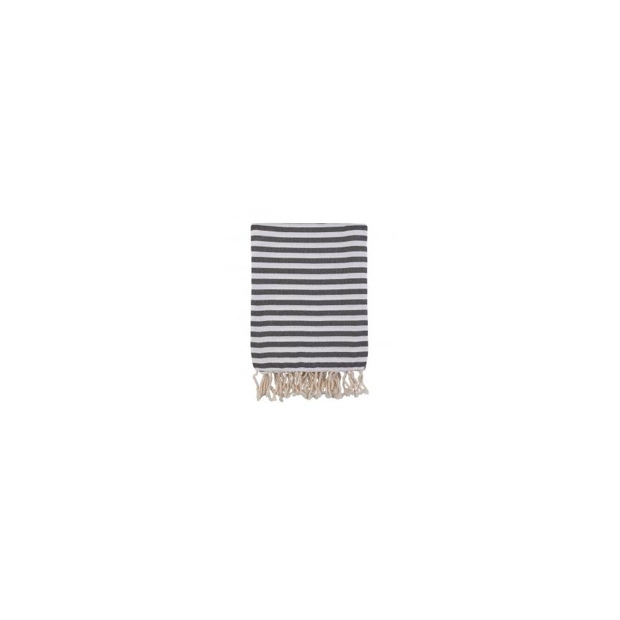 Полотенце Barine Pestemal - Herringbone 100*180 Black черный