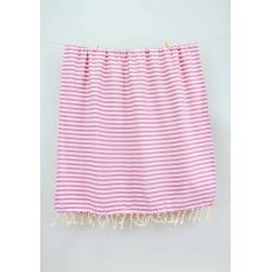 Полотенце Barine Pestemal - Herringbone 100*185 Flamingo-mint , , 3