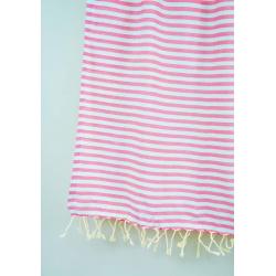 Полотенце Barine Pestemal - Herringbone 100*185 Flamingo-mint , , 4