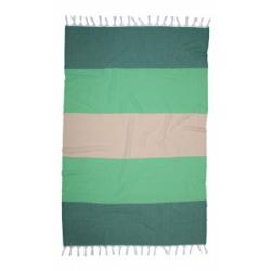 Полотенце Barine Pestemal - Block 95*165 Forest green-moss-beige, , 2