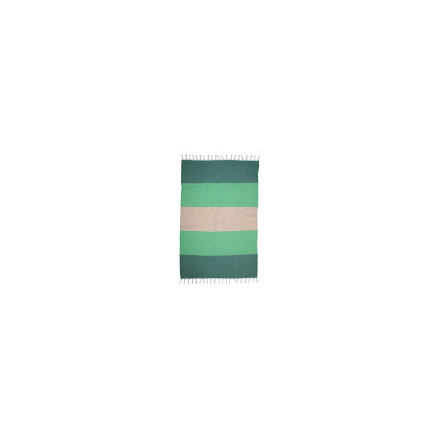 Полотенце Barine Pestemal - Block 95*165 Forest green-moss-beige
