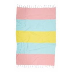 Полотенце Barine Pestemal - Block 95*165 Peach-lt.blue-yellow, , 2