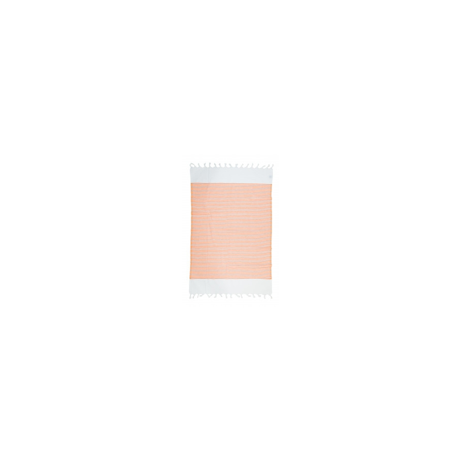 Полотенце Barine Pestemal - White Imbat 90*170 Orange оранжевый