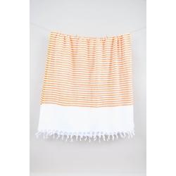 Полотенце Barine Pestemal - White Imbat 90*170 Orange оранжевый, , 3