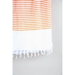 Полотенце Barine Pestemal - White Imbat 90*170 Orange оранжевый, , 4
