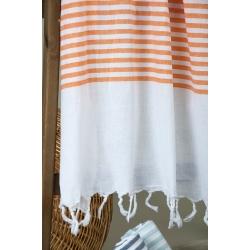 Полотенце Barine Pestemal - White Imbat 90*170 Orange оранжевый, , 5