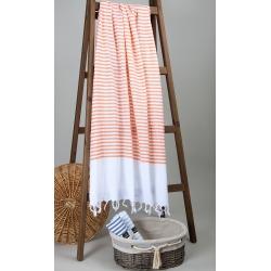 Полотенце Barine Pestemal - White Imbat 90*170 Orange оранжевый, , 6