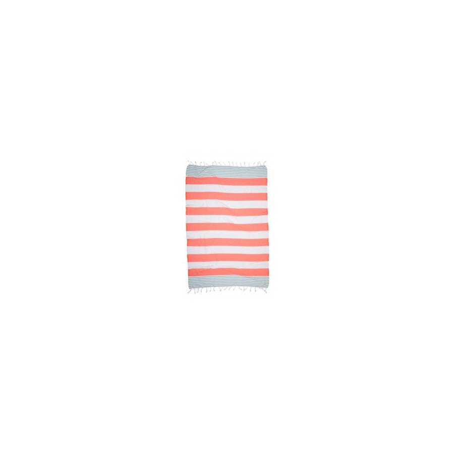 Полотенце Barine Pestemal - Journey 90*170 Mint-Papaya