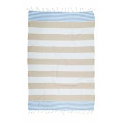 Полотенце Barine Pestemal - Journey 90*165 Blue-Bej, , 2