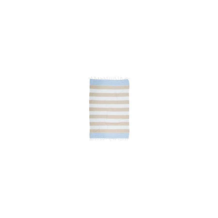 Полотенце Barine Pestemal - Journey 90*165 Blue-Bej