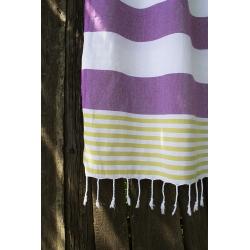 Полотенце Barine Pestemal - Journey 90*165 Olive-Purple, , 4