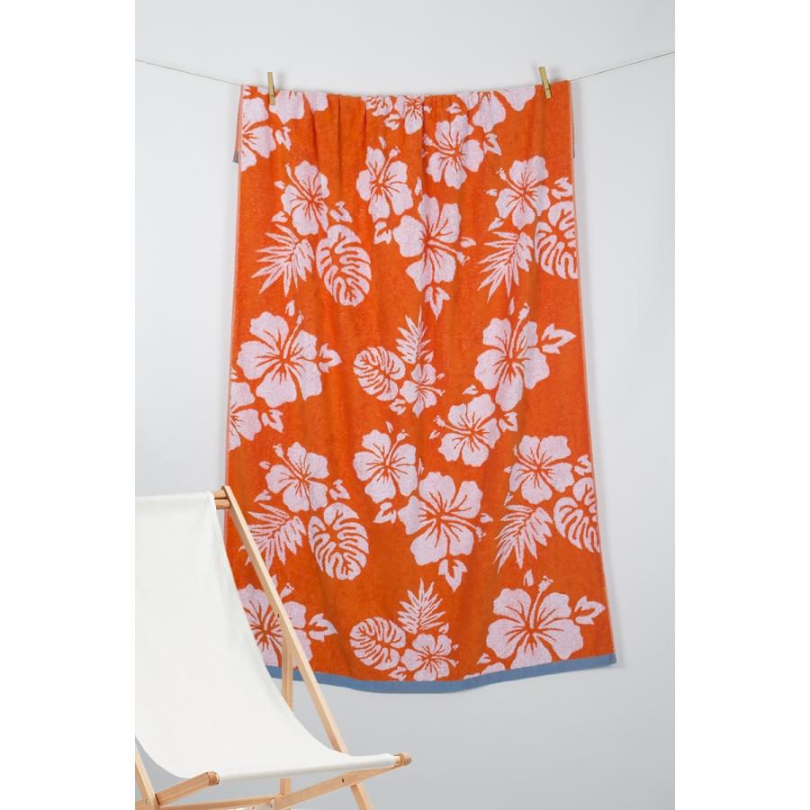 Полотенце Barine Pestemal - Aloha 90*160 Oranj оранжевый
