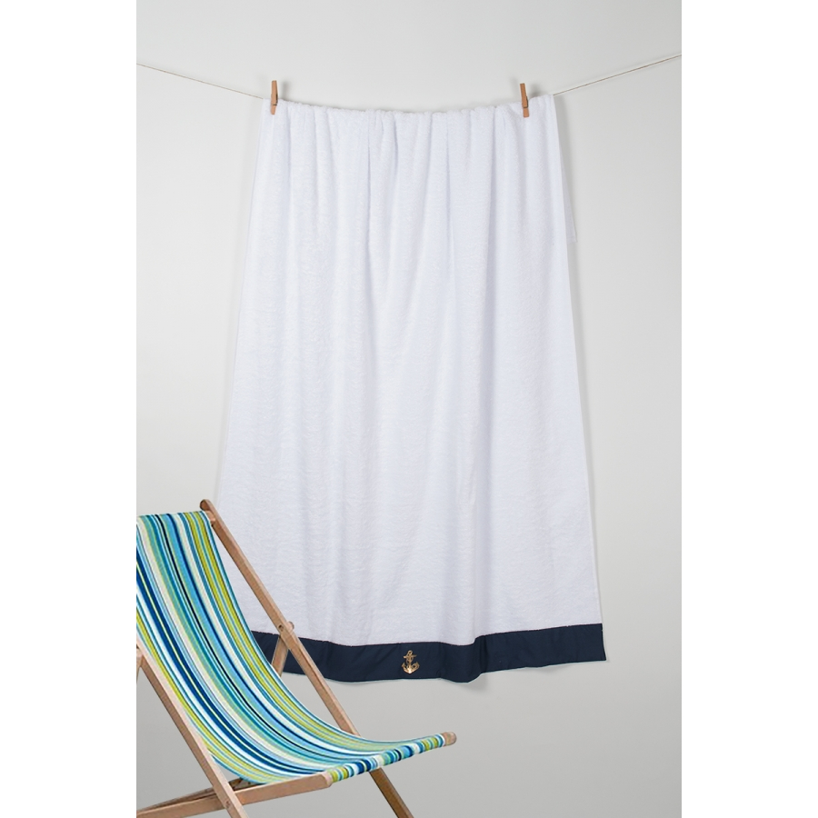 Полотенце Barine Pestemal - Anchor 100*150 Navi синий