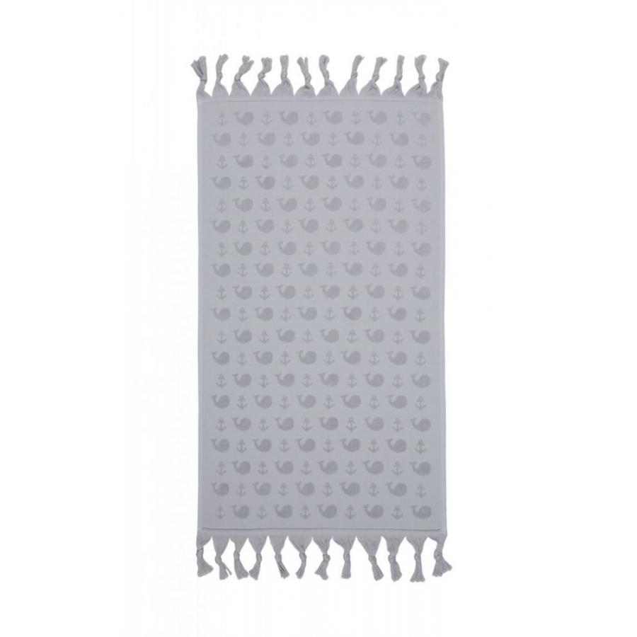 Полотенце Barine - Whale grey серый 50*90