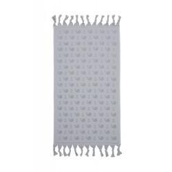 Полотенце Barine - Whale grey серый 90*160, , 2