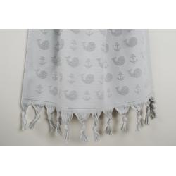 Полотенце Barine - Whale grey серый 90*160, , 4