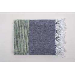 Полотенце Barine Pestemal - Marble 90*160 Green-Indigo, , 2