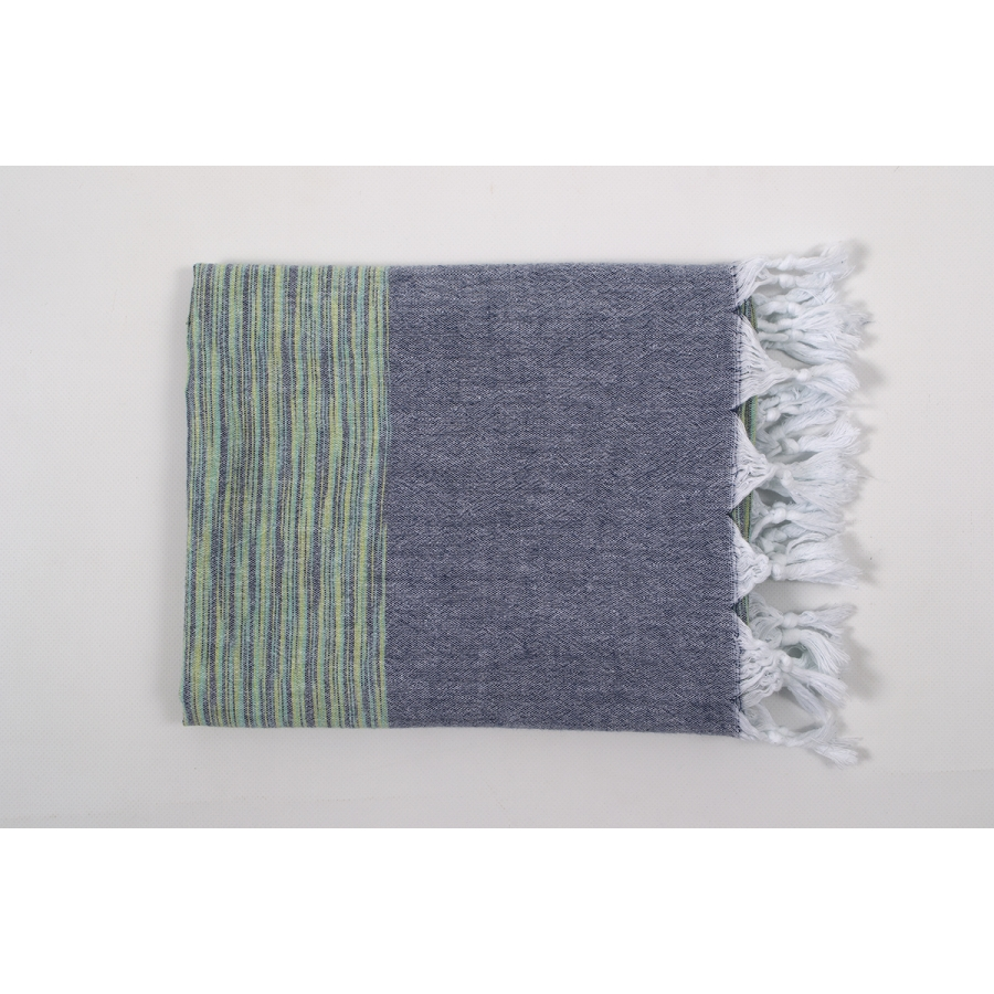 Полотенце Barine Pestemal - Marble 90*160 Green-Indigo