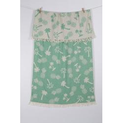 Полотенце Barine Pestemal - Palmsprings 90*160 Green зеленый, , 4