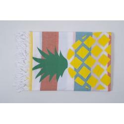 Полотенце Barine Pestemal - Ananas 90*170 Orange-turkuaz-yellow, , 2