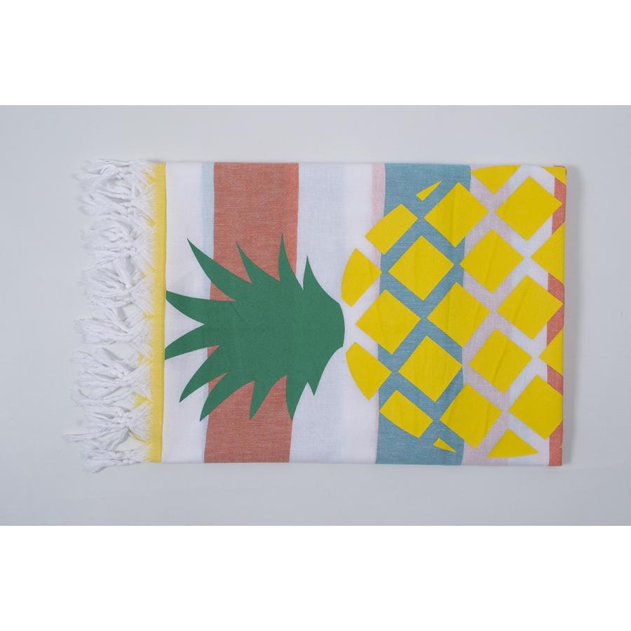 Полотенце Barine Pestemal - Ananas 90*170 Orange-turkuaz-yellow