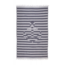 Полотенце Barine Pestemal - Undercover Anchor 95*175 Navy синий, , 2