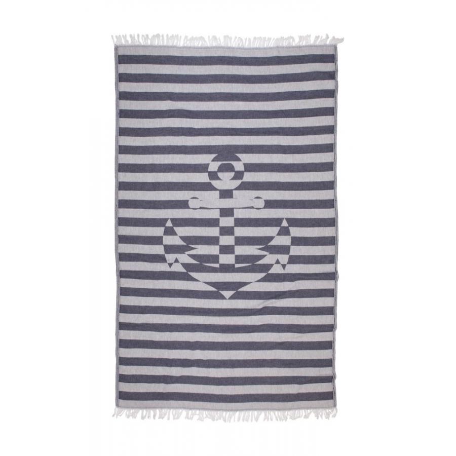 Полотенце Barine Pestemal - Undercover Anchor 95*175 Navy синий