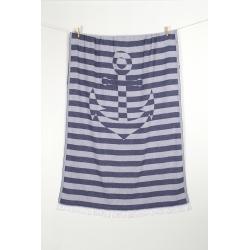 Полотенце Barine Pestemal - Undercover Anchor 95*175 Navy синий, , 6