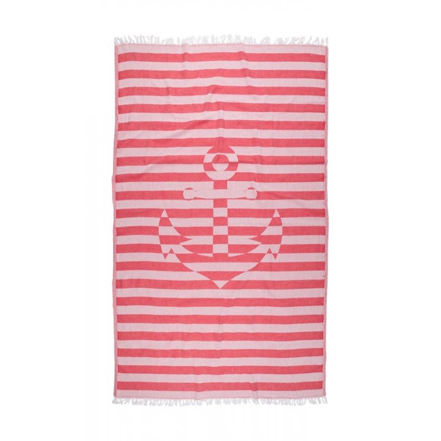 Полотенце Barine Pestemal - Undercover Anchor 95*175 Red красный