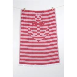 Полотенце Barine Pestemal - Undercover Anchor 95*175 Red красный, , 6