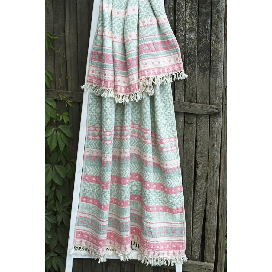 Полотенце Barine Pestemal - Morocco 90*160 Sage-Pink розовый