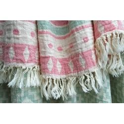 Полотенце Barine Pestemal - Morocco 90*160 Sage-Pink розовый , , 3