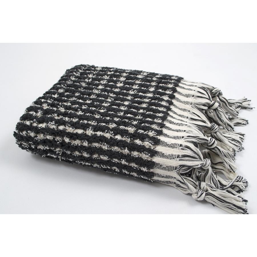Полотенце Barine - Curly Bath Towel ecru-black кремово-черный 45*95