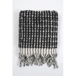 Полотенце Barine - Curly Bath Towel ecru-black кремово-черный 45*95, , 3
