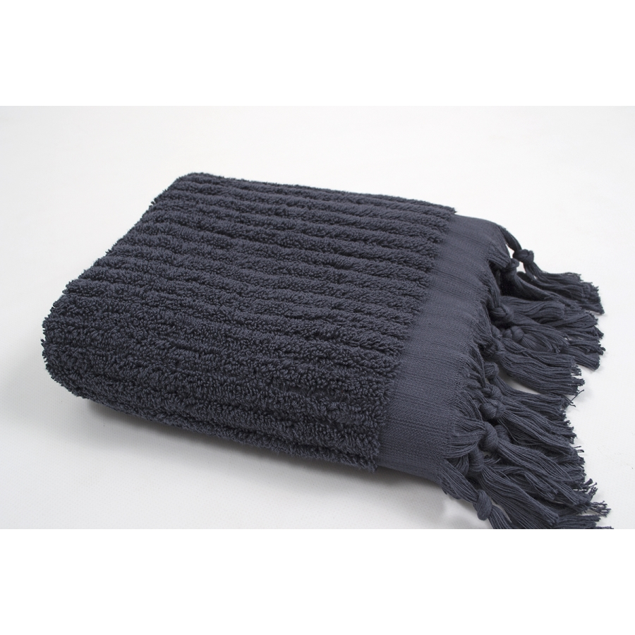 Полотенце Barine - Rib indigo синий 45*90